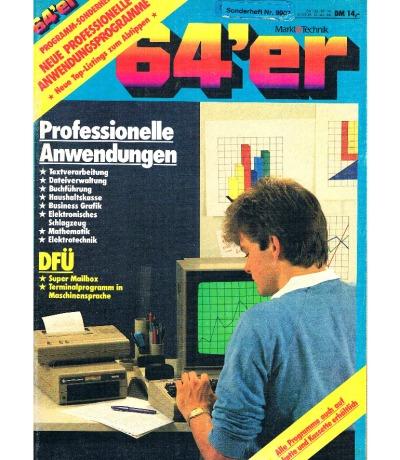 64er Sonderheft Professionelle Anwendung DFÜ - Magazin Commodore 64 128 C64 C128