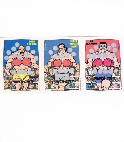 Punch Out 3x Rubbelkarte Nintendo Game
