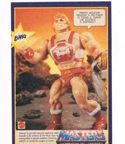 Power Punch He-Man Italienische Werbeseite Masters