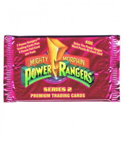 1x Trading Cards Packung Mighty Morphin
