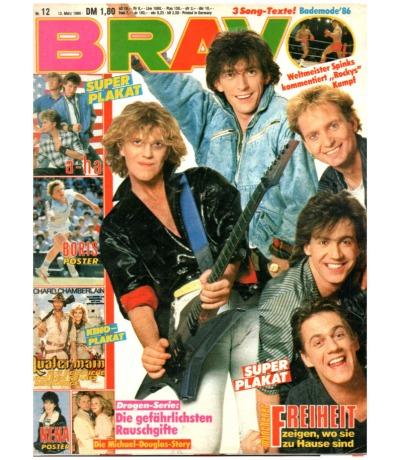 Bravo Nr.12 1986 Heft - Peter Maffay Simple Mind Münchener Freiheit Rockey
