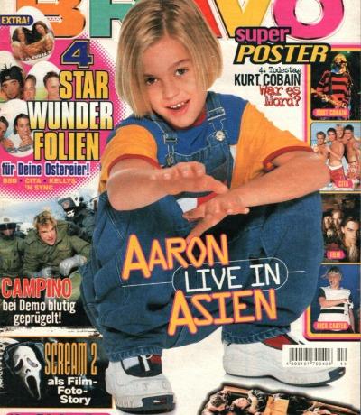 Bravo Nr.14 1998 Heft - Die Toten Hosen Aaron Carter Guan Apes Kurt Cobain Bobo