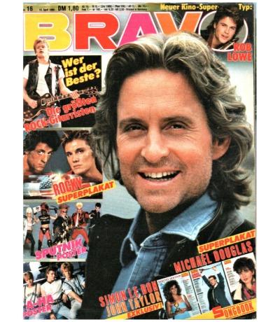 Bravo Nr.16 1986 Heft - Jetzt online Kaufen - Van Halen Picnic at the Whitehouse Sigue Sputnik Duran