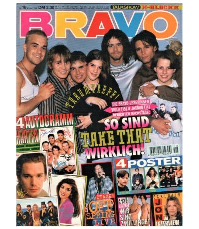 Bravo Nr.18 1995 Heft - Jetzt online Kaufen - The cranberries Bon Jovi The Offspring Take That Rednex