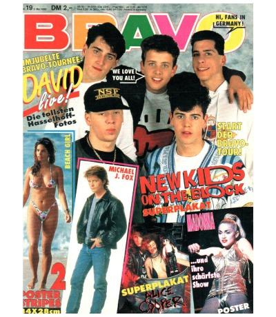 Bravo Nr.19 1990 Heft - David Hasselhoff Public Enemy Dieter Bohlen Madonna