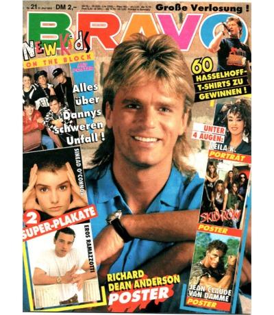 Bravo Nr.21 1990 Heft - New Kids on the Block Tom Cruise Leila K. Tina Turner