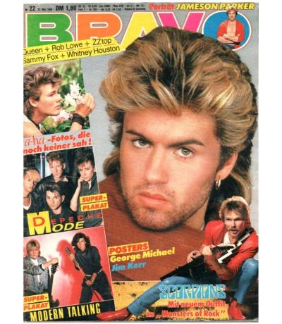 Bravo Nr.22 1986 Heft - Sandra Kim Scorpions Queen Bangles ZZ Top Aerosmith