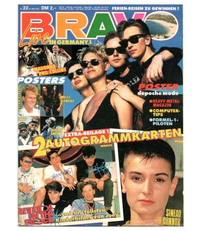 Bravo Nr.22 1990 Heft - Phill Collins Madonna Sean O Connor John Travolta