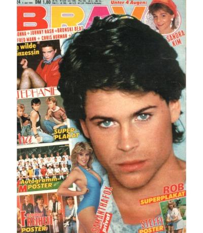 Bravo Nr.24 1986 Heft - Samantha Fox Madonna Kim Basinger The Cure