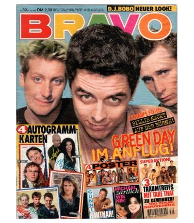 Bravo Nr.30 1995 Heft - Jetzt online Kaufen - green day michael jackson dj bobo x-blockx take that