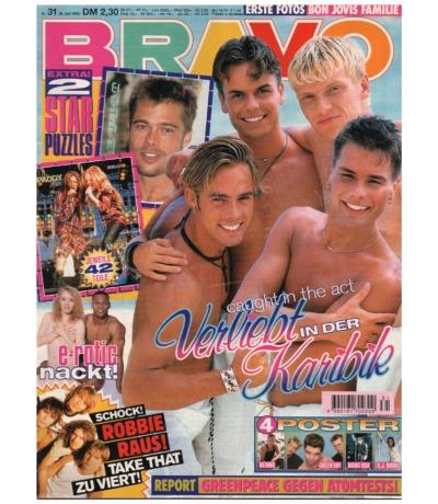 Bravo Nr.31 1995 Heft - Jetzt online Kaufen - Take That Caught in the Act Offspring Fun Factory ERotic