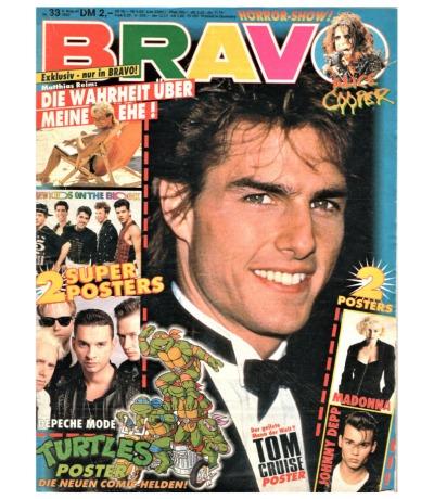 Bravo Nr.33 1990 Heft - Matthias Reim Adamski Extrabreit Alice Cooper Twenty4Seven