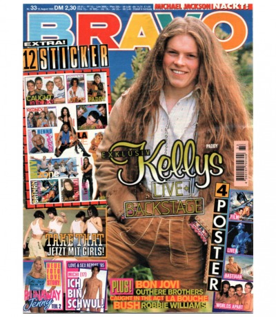 Bravo Nr.33 1995 Heft - Jetzt online Kaufen - Kelly Family Take That Bon Jovi Michael Jackson LaBouche