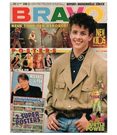 Bravo Nr.35 1990 Heft - New Kids on the Block Erasure EAV Patrick Swayze