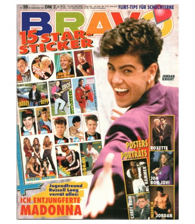 Bravo Nr.38 1990 Heft - David Hasselhoff Madonna Dieter Bohlen Depeche Mode
