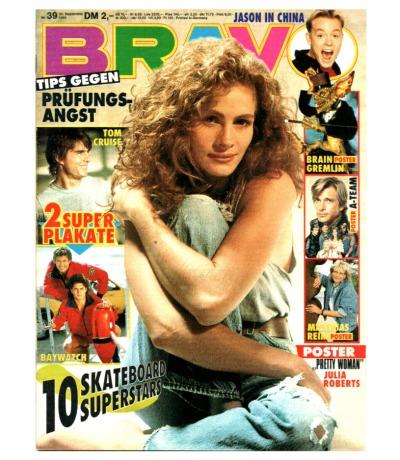 Bravo Nr.39 1990 Heft - New Kids on the Block Madonna Sabdra Billy Idol Snap