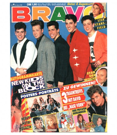 Bravo Nr.4 1990 Heft - Jetzt online Kaufen - Madonna The Rolling Stones Lias Stansfield Silvester Sta.