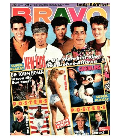 Bravo Nr.43 1990 Heft - Toten Hosen Dieter Bohlen James Dean Boo Yaa T.r.i.b.e.