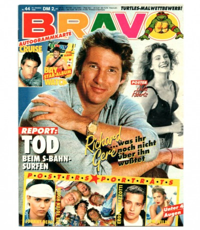 Bravo Nr.44 1990 Heft - Jetzt online Kaufen - Matthais Reim A-Ha AC/DC Westernhagen Kim Wilde Volxmusik Richard Gere