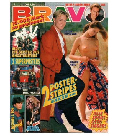 Bravo Nr.5 1990 Heft - Michael J. Fox Bon Jovi Mark Sigl Metallica