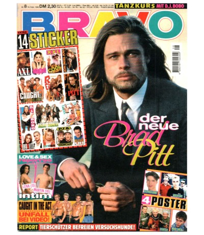Bravo Nr.8 1995 Heft - Jetzt online Kaufen - Caught in the Act Slash H-Blockx Brad Pitt R.E.M. DJ Bobo