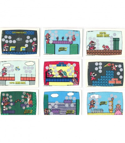 Super Mario Bros Trading Cards Rubbelkarten