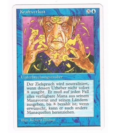 Kraftverlust - Magic the gathering