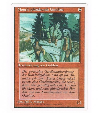 Mons plündernde Goblins Magic the gathering