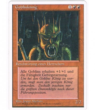 Goblinkönig - Magic the gathering