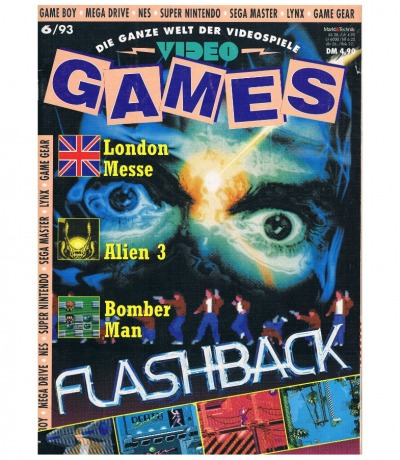 Ausgabe 6/93 Video Games Magazin Heft