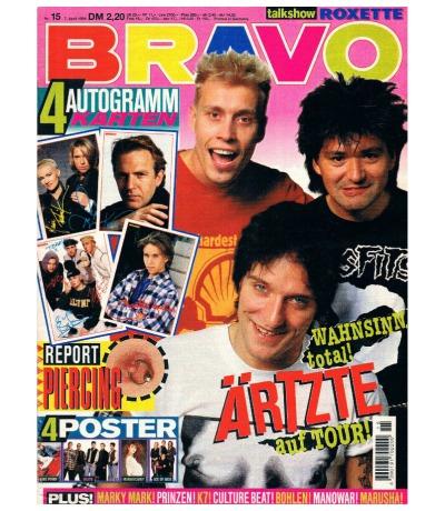BRAVO Nr15 Komplett Jugend-Magazin Heft Roxette