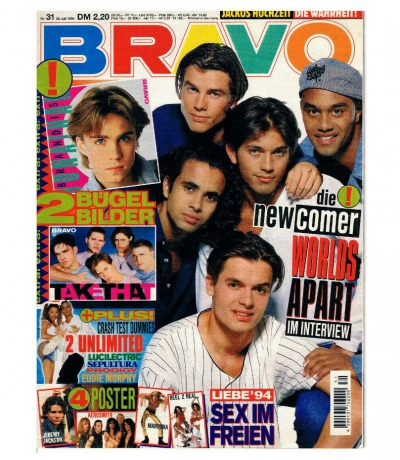 BRAVO Nr31 Jugend-Magazin Heft Alicia Silverstone