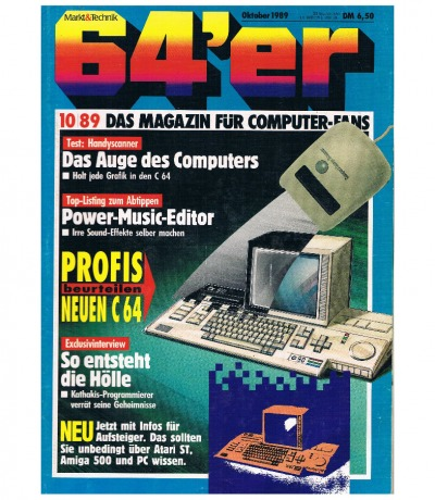 Ausgabe 10/89 1989 - 64er Magazin