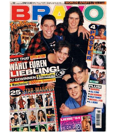 BRAVO Nr32 Jugend-Magazin Heft Flinstones All