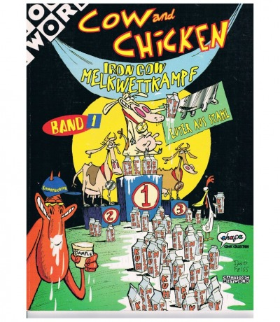 Cow and Chicken Comic Band Iron
