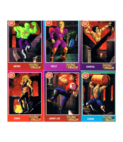 Nintendo NES Double Dragon Trading Cards