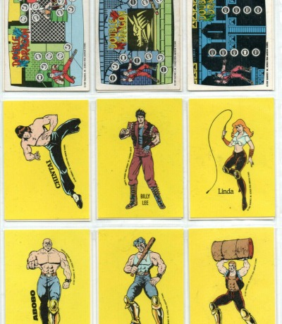 Double Dragon - 18 Trading Cards & Sticker - Nintendo NES