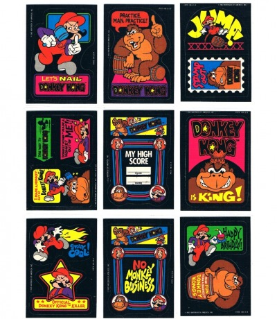 9x Donkey Kong Arcade Sticker Nintendo