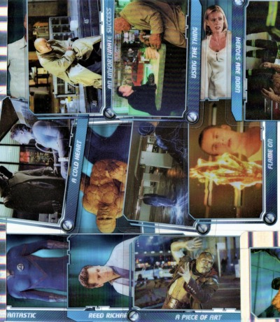22x Trading Cards Fantsatic the Movie