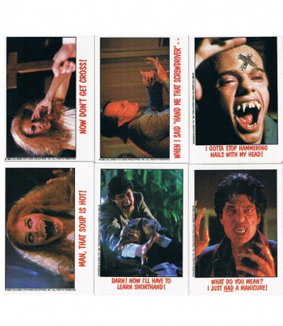 Fright Night 6x Trading Cards Sammelkarten