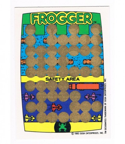 Frogger - Sega Rubbelkarte