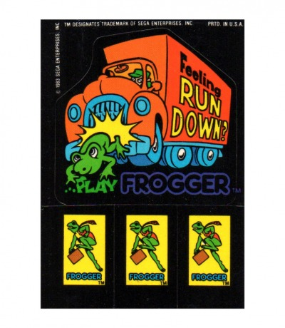Sega Sticker Frogger Feeling run down