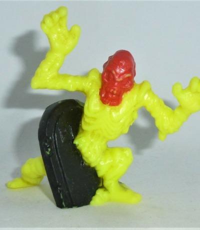 Monster in my Pocket - Grave Watcher - Figur neon gelb - Serie 4 - Super Scary - 1992 Matchbox