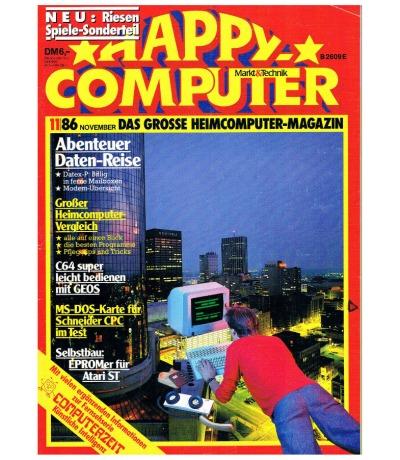 Happy Computer 11/86 November Commodore Schneider