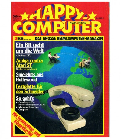 Happy Computer 2/86 November Commodore Schneider