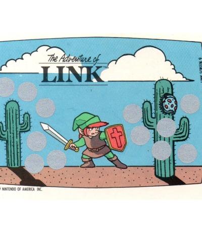The Legend of Zelda - The Adventure of Link - Nintendo NES Rubbelkarte von 1989 - Nintendo Game Pack Serie 1