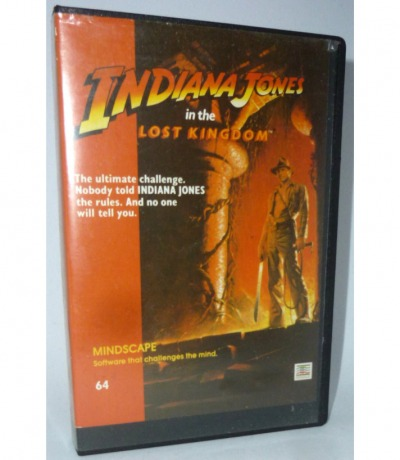 Indiana Johnes in the lost kingdom - C64 / Commodore 64 - Kassette - Datasette - MC