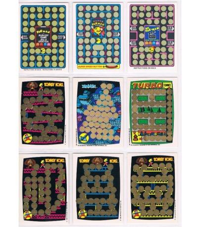9x Game Rubbelkarten DONKEY KONG Ms