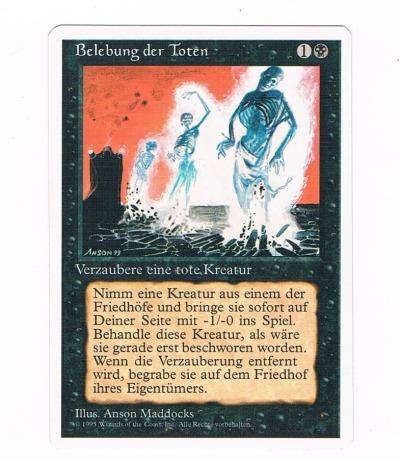 Belebung der Toten Magic the gathering