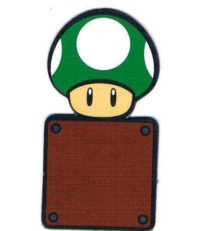 Super Mario Bros Magnet 1Up Pilz